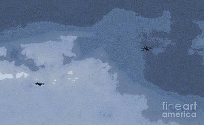 Flyers Digital Art - Biplane In Flight 2 by Carol Lynch