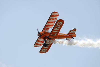 Photograph - Biplane by Steve Ball