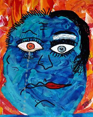 Bipolar Blues Art Print by Deborah Stanley