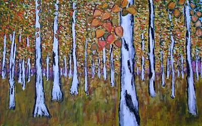 Birch Autumn Art Print by Zeke Nord