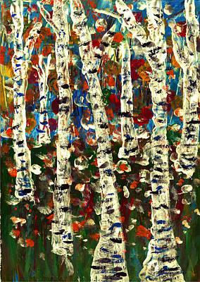 Painting - Birch by Branko Jovanovic