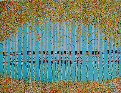 Painting - Birch Confetti by Deborah Glasgow