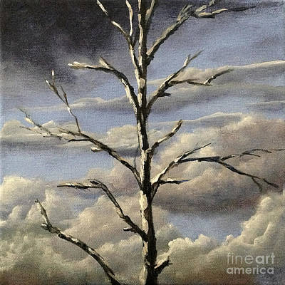 Painting - Birch Cropped by Ric Nagualero