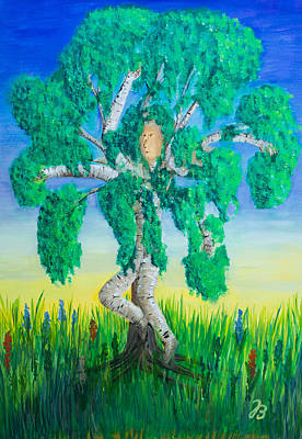 Painting - Birch Dance by Jutta B