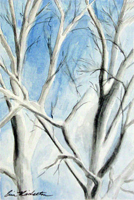 Painting - Birch Duet by Erin Rickelton