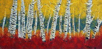 Painting - Birch Fall by Peter Kallai