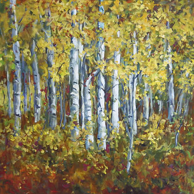 Painting - Birch Forest by Ingrid Dohm