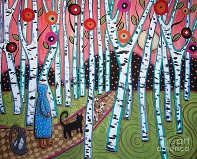 Path Painting - Birch Grove by Karla Gerard