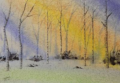 Painting - Birch In Blue by Richard Faulkner