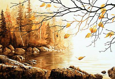 Birch Island Mist Art Print by Hanne Lore Koehler