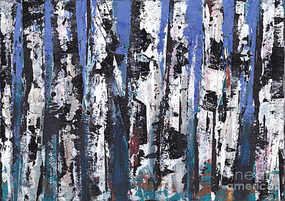 Painting - Birch Series #12 by A K Dayton