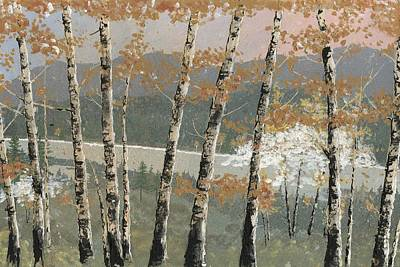 Painting - Birch Stand by John Wyckoff
