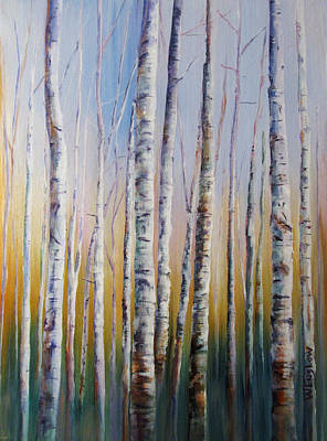 Birch Thicket Original by Wayne Enslow