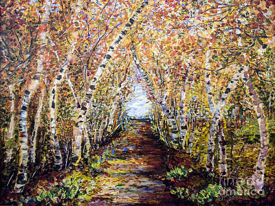 Painting - Birch Tree Allee by Ginette Callaway