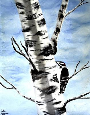 Birch Tree Art Print by Denise Tomasura