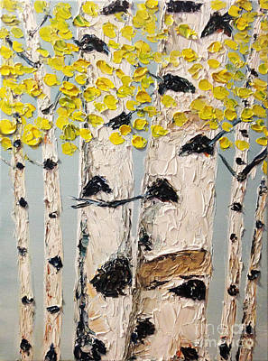 Painting - Yellow Aspens by Eryn Tehan