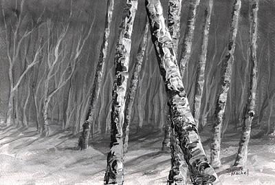Painting - Birch Trees by Darice Machel McGuire