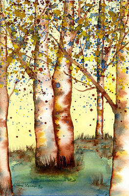 Painting - Birch Trees by Diane Ferron