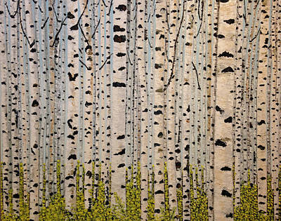 Painting - Birch Trees by Eryn Tehan