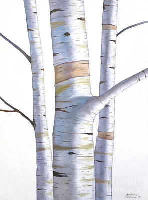 Painting - Birch Trees In Three by Christopher Shellhammer