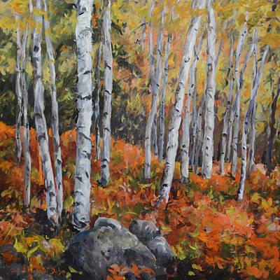 Birch Trees Art Print by Alexandra Maria Ethlyn Cheshire