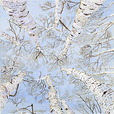 Painting - Birch Trees by Leo Gehrtz