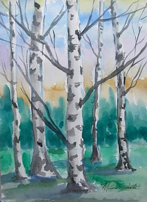 Birch Trees Art Print by Melinda Saminski