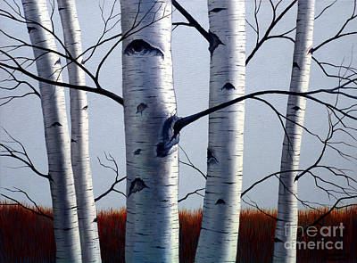 Painting - Birch Trees Upon The Horizon by Christopher Shellhammer