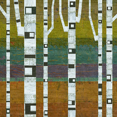 Digital Art - Birches 2.0 by Michelle Calkins