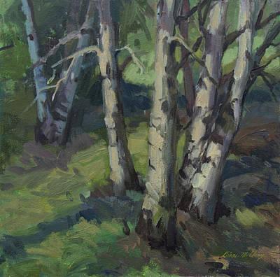 Birches Art Print by Diane McClary