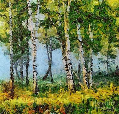 Birches In The Spring Art Print by Dragica  Micki Fortuna