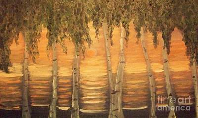 Birches In The Sun Art Print by Holly Martinson