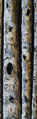 Grouping Mixed Media - Birches by Lori McPhee