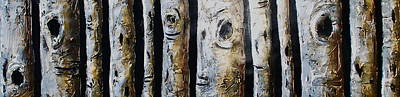 Grouping Mixed Media - Birches Standing Before You by Lori McPhee