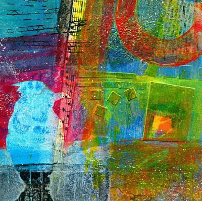 Grid Painting - Blue Bird by Shuya Cheng