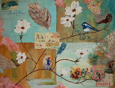 Painting - Bird And Feather by Tamyra Crossley
