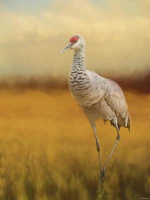 Painting - Bird Art - A Quiet Walk by Jordan Blackstone