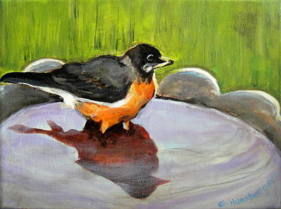 Painting - Bird Bath by Edith Hunsberger