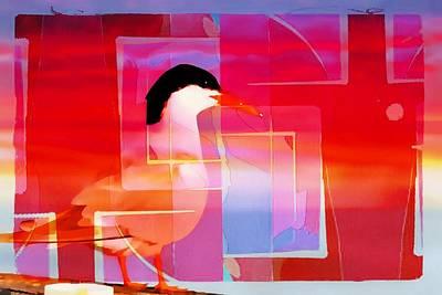 Art Print featuring the photograph Bird By The Bay by Allen Beilschmidt