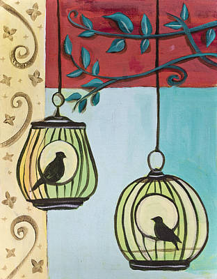 Painting - Bird Cage by Richard Fritz