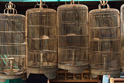 Cage Photograph - Bird Cages At Ngasem Traditional Bird by Keren Su