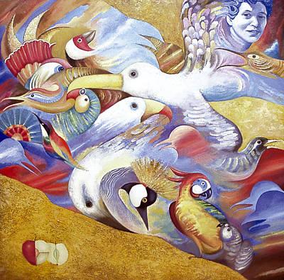 Art Print featuring the painting Bird Catcher by Dmitry Spiros