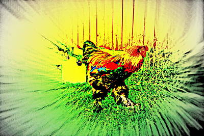 Come And Enjoy The Bird Dance For The Rooster  Art Print by Hilde Widerberg