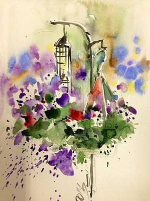 Vase Of Flowers Drawing - Bird Feeder by Farid Ahmadi
