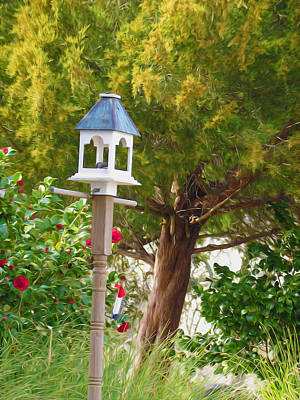 Colorful Photograph - Bird Feeder  by Lanjee Chee