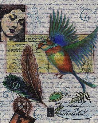 Drawing - Bird Flight by Tamyra Crossley