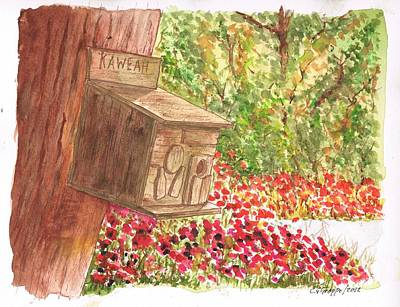 Flores Painting - Bird Home In Kaweah - California by Carlos G Groppa
