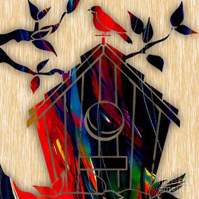 Tree Art Mixed Media - Bird House by Marvin Blaine