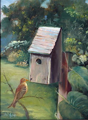 Painting - Bird House by Rich Kuhn