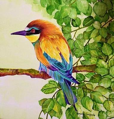 Painting - Bird In A Bush by Sonali Sengupta